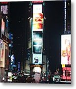 Times Square At Night Metal Print