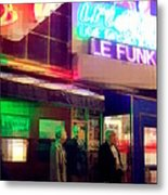 Times Square At Night - Le Funk Metal Print