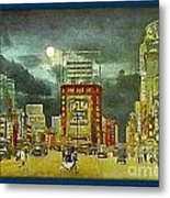 Times Square At Night- New York City- 1909 Metal Print