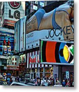 Times Square Energy Metal Print