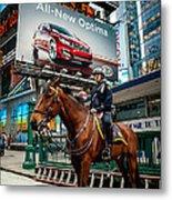 Times Square Horse Power Metal Print