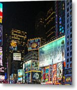Times Square In 2010 Metal Print