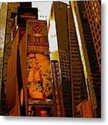 Times Square In Manhattan Metal Print