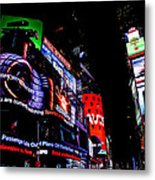 Times Square Lights Metal Print