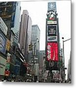 Times Square Metal Print by Georgia Fowler