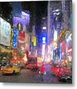 Times Square Street Level Metal Print by Bud Anderson