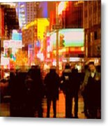 Times Square - The Lights Of New York Metal Print