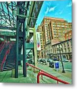 Times Union Stairwell Metal Print