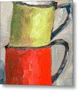 Tin Cups Metal Print