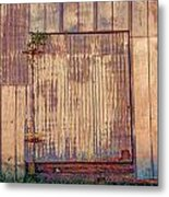 Tin Door Metal Print