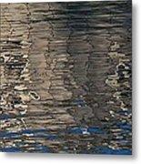 Tin Fishing Shack Reflection Metal Print