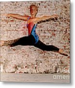 Shelly Ballet Jump Metal Print