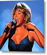 Tina Turner Queen Of Rock Metal Print