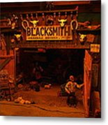 Tinkertown Blacksmith Shop Metal Print by Jeff Swan