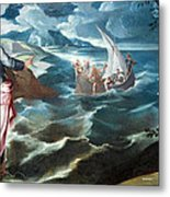 Tintoretto's Christ At The Sea Of Galilee Metal Print