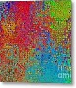 Tiny Blocks Digital Abstract - Bold Colors Metal Print