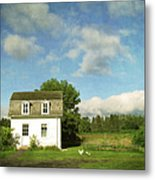 Tiny Country House Metal Print