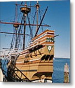 Tiny Mayflower At Plymouth Rock Metal Print