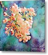 Tiny Spring Tree Blooms - Digital Color Change And Paint Metal Print