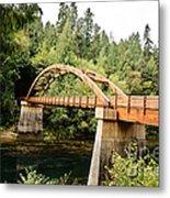 Tioga Bridge Over North Umpqua River Metal Print