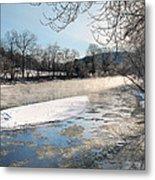 Tioughnioga River Landscape Metal Print