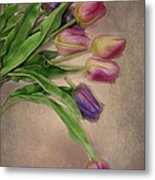 Tip Toe Thru The Tulips Metal Print by Mary Timman