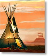 Tipi Or Tepee Monument Valley Metal Print