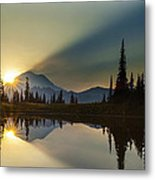 Tipsoo Rainier Sunstar Metal Print