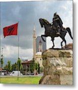 Tirana, Albania. Skanderbeg Square Metal Print