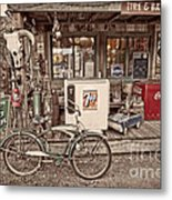 Tire And Battery Service Metal Print