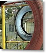 Tires In An Orphanage Metal Print