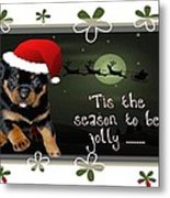 'tis The Season To Be Jolly Holiday Greetings Metal Print