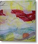 Tissue Paper Abstract 114 Metal Print