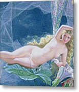 Titania Lying On A Leaf  Metal Print