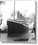 Titanic In Southampton Harbor Metal Print