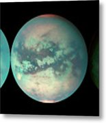 Titan's Changing Features Metal Print