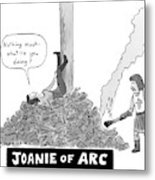 Title: Joanie Of Arc. A Teenage Joan Of Arc Rests Metal Print