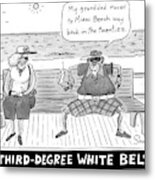 Title: Third Degree White Belt. An Old Man Metal Print