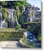 Tivoli Garden Fountains Metal Print