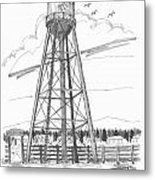 Tivoli Water Tower Metal Print