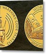 Tlingit Tribe Code Talkers Bronze Medal Art Metal Print