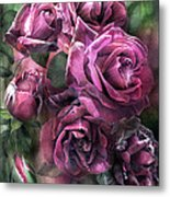 To Be Loved - Mauve Rose Metal Print