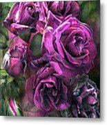 To Be Loved - Purple Rose Metal Print