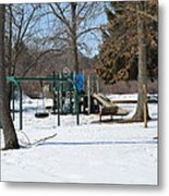 To Cold To Play Metal Print