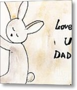 To Dad Metal Print by Trilby Cole