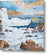 To Rough For Fishing Metal Print