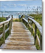To The Beach Metal Print