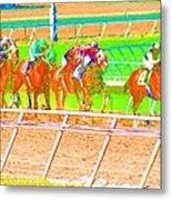 To The Finish Line Metal Print