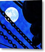 To The Moon Alice Metal Print by Mike Flynn