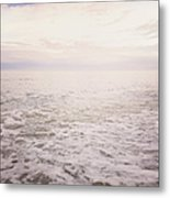 To The Ocean White With Foam Metal Print